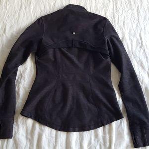 Lululemon Full Zip Dark Grey Black Jacket Size 8